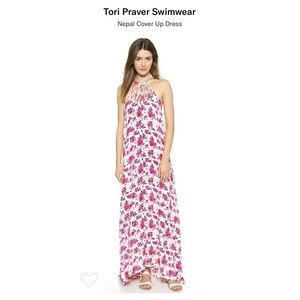 Tori Praver Maxi Dress Size Medium